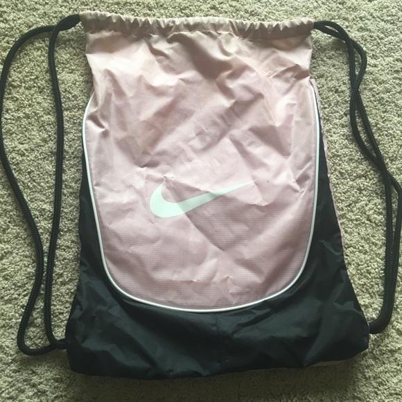 Nike Handbags - Light Pink Nike Drawstring Bag